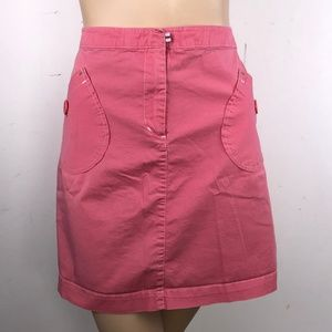 Anthropologie Sitwell Pink Straight Mini Skirt 14